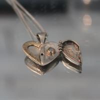 "Кабала колие ""Сърце - нова любов"", злато и сребро"