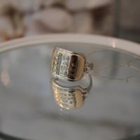 """Кабала пръстен """"Ана Бекоах - Дай ми сили"""", злато и сребро"""