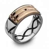 """Пръстен """"Атлантис"""", 18K злато и сребро"""
