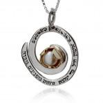 """""""Благодарност към жената"""", сребро и злато с перла"""