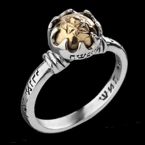 """Пръстен """"HaShmi'ini"""", 9К злато, сребро и формулата на 5-те метала"""